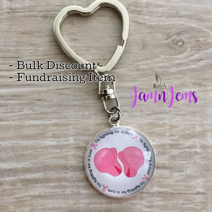 Fighting for a Cure|Breast Cancer Keychain|Breast Cancer Encouragement|Fundraising|Fighting Cancer Gift|Breast Cancer Gift|Cancer Support by JamnJems on Etsy