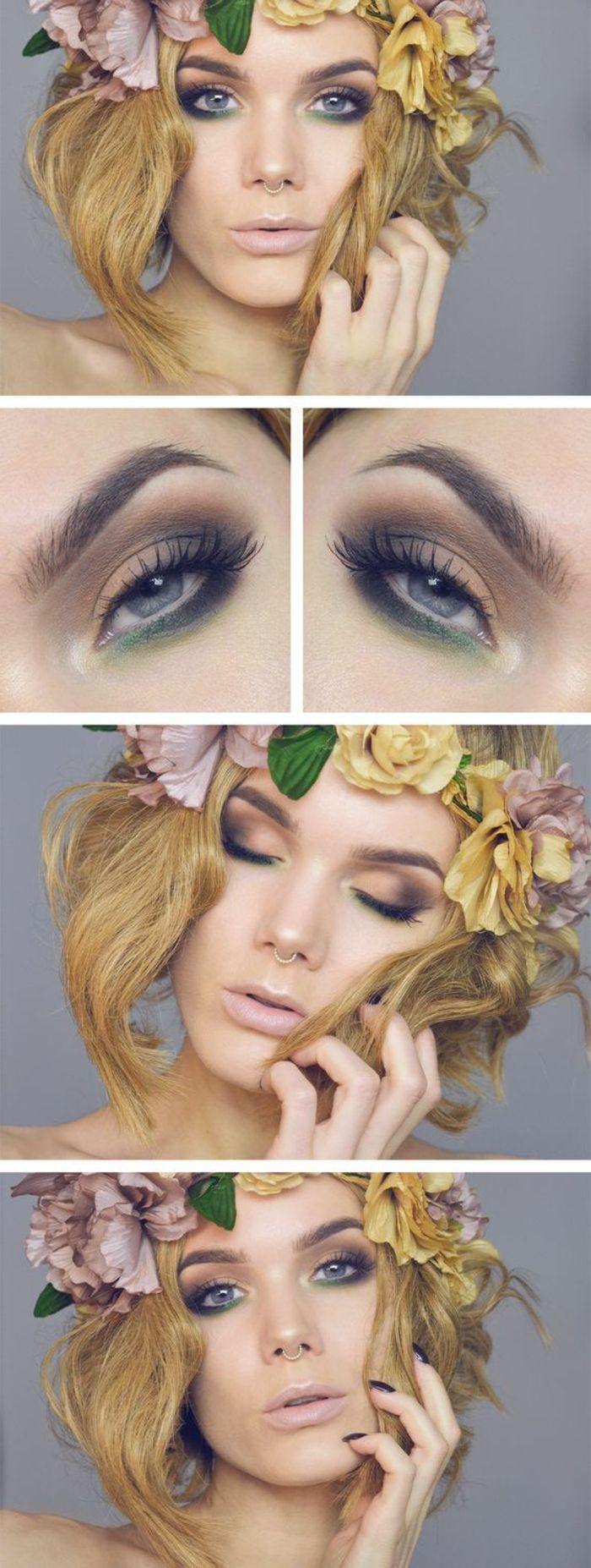 como-maquillarse-los-ojos-azules-maquillaje-verde-bajo-el-ojo-tonos-marrones