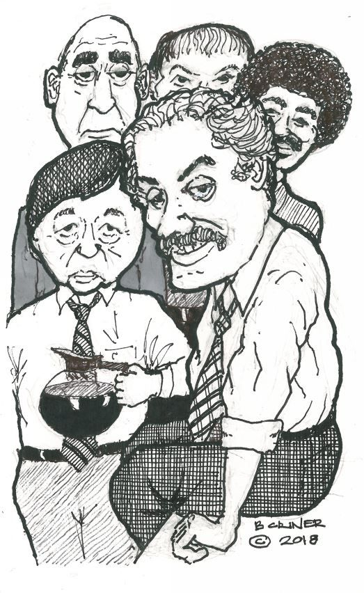 Hal Linden - from Barney Miller along with some other cast members. 2018 January by Brandon Criner