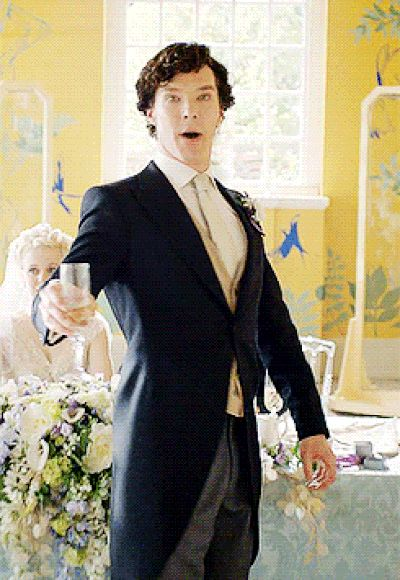 He supports your love of champagne. | 31 Reasons We're Addicted To Benedict Cumberbatch