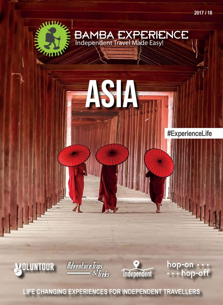 Bamba Experience Asia Brochure 2017. Experience ancient temples, Asian cuisine, and breathtaking natural wonders! #Brochure #BambaExperience #ExperienceLife  #Travel #IndependentTravel #HopOnHopOff #Asia