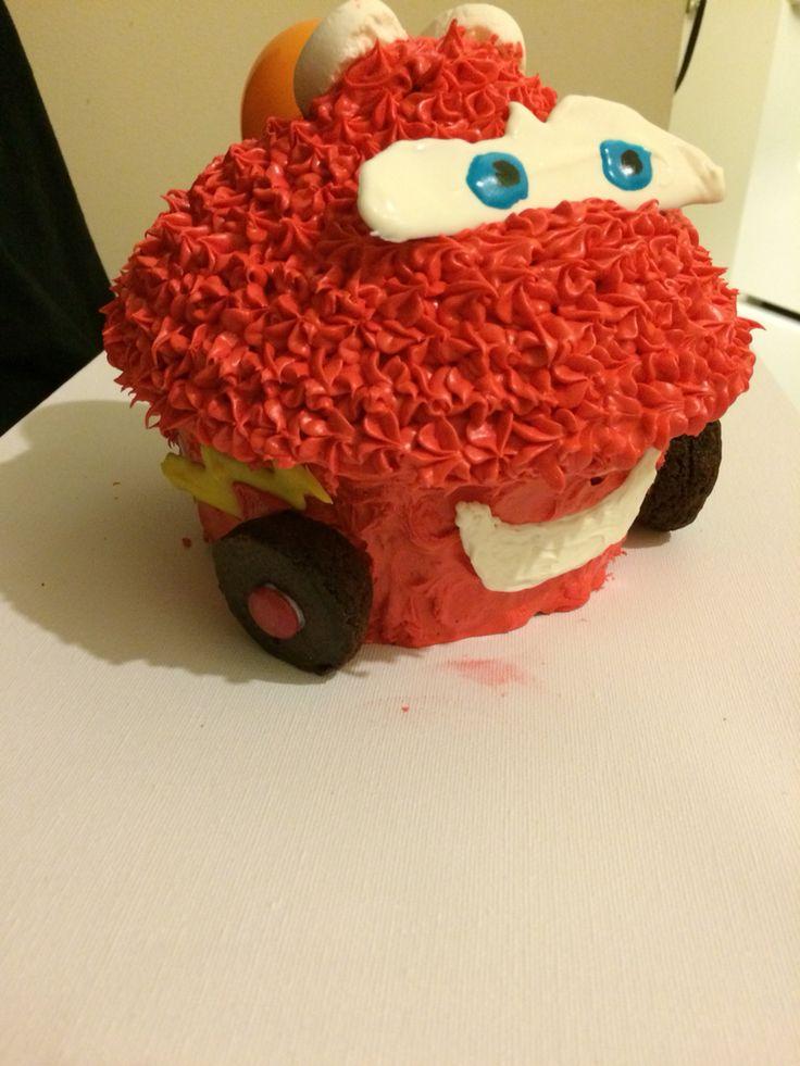 Lightning McQueen giant cupcake
