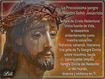 Resultado de imagen para Mes de la sangre de Cristo