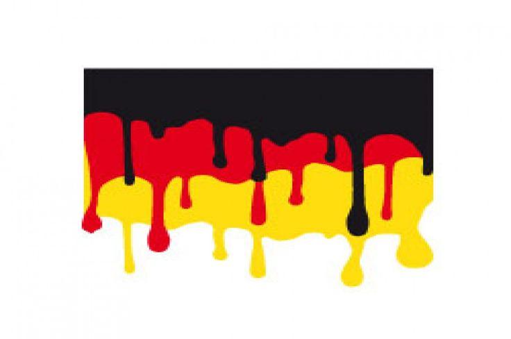 Deutschland Fahne mit verlaufener Farbe, kostenlose Schneidedatei, Plottergrafik von HappyFabric