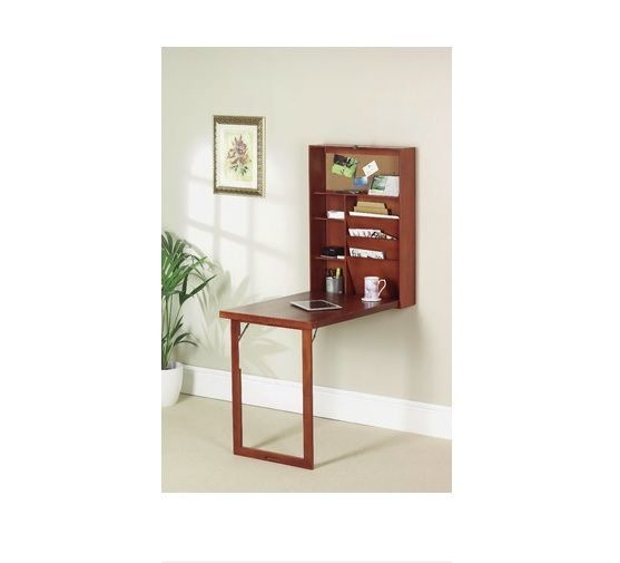 Wall Mounted Hideaway Writing Desk Computer Home Office Study Table Drop  Down