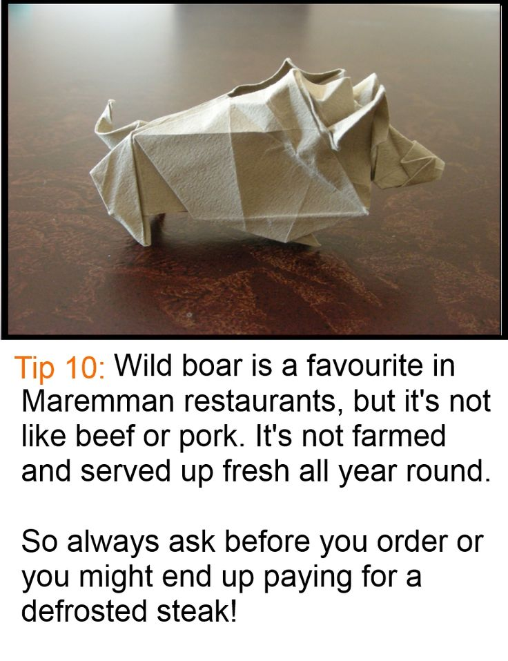 Like mushrooms or pumpkin, wild boar is an autumn-winter meat, so if you see it on the menu, check it's not the frozen remains of last year's catch. For more visit www.maremma-tuscany.com #Maremma #Tuscany #food
