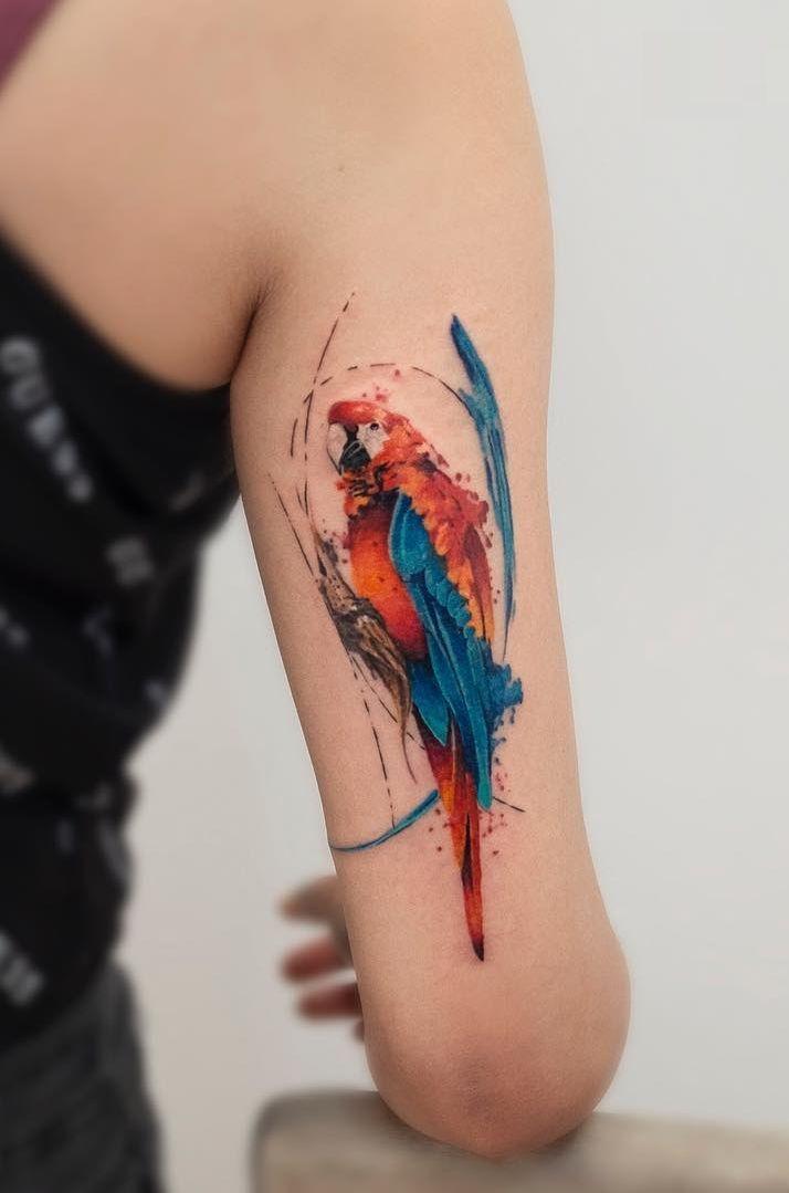Watercolor Tattoos By Baris Yesilbas Hexagon Tattoo Watercolor