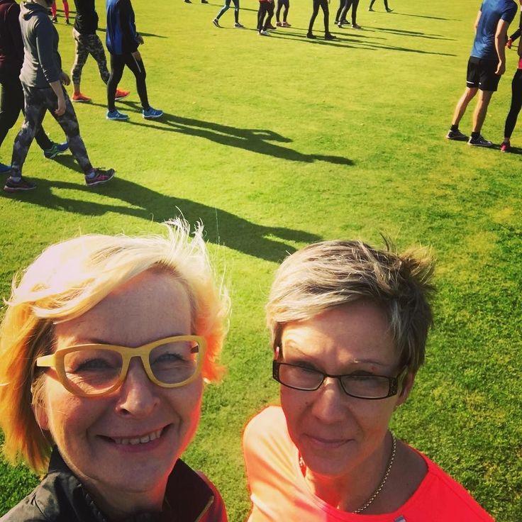 Anne ja minä lähdössä #helsinkicitytrail 1084 1085 #futuremarja #helsinki #polkujuoksu #ekakerta #tsempit