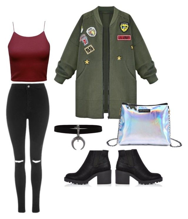 """""""Untitled #2"""" by sofia-pedu on Polyvore featuring Topshop, WithChic and River Island"""