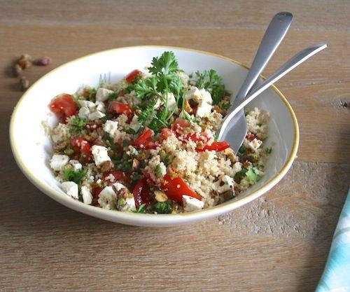 Quinoa pistache salade, glutenvrij