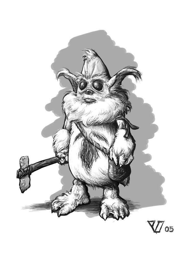 """Snow Creature"" [Marius Vibe 2005]- Character design for a planned feature film. #character #characters #design #creature #creatures"