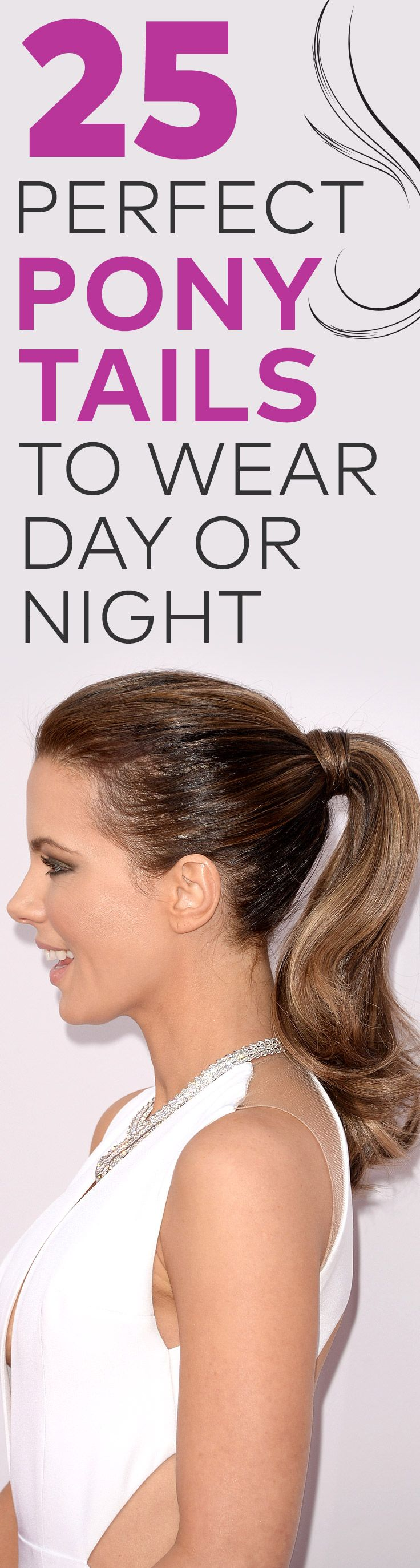 25 Perfect Ponytails to Wear Day or Night: If you're like us, you probably have quite a few resolutions to keep this year. But whether you're resolving to hit the gym more or up your beauty game, we rounded up 25 stylish ponytails to keep you looking good while achieving your goals.