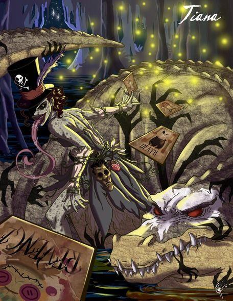 El ilustrador Jeffrey Thomas y su trabajo de el lado oscuro de las princesas de Disney - Tiana (La princesa y el sapo)