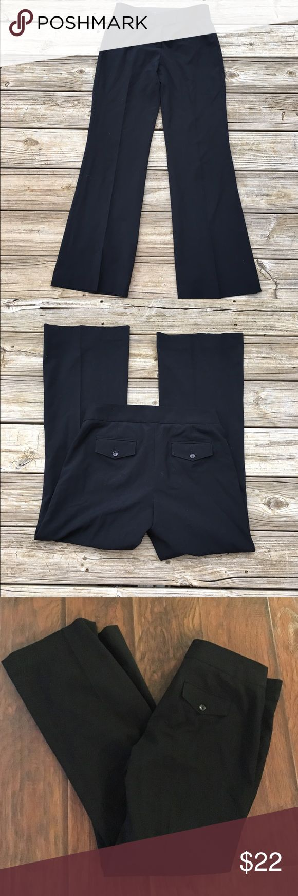 "Black Express trouser pants In like new condition and straight from the dry cleaners! Express ""columnist"" pants. Inseam is 31.5 inches. Thanks for looking.💕 Express Pants Trousers"