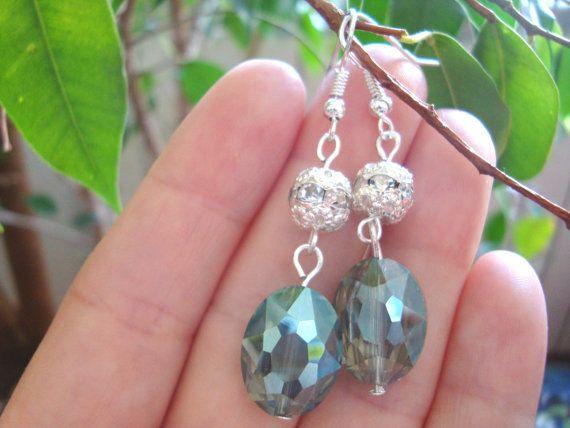 Beautiful earrings crystal earrings best gift by BiancasArt