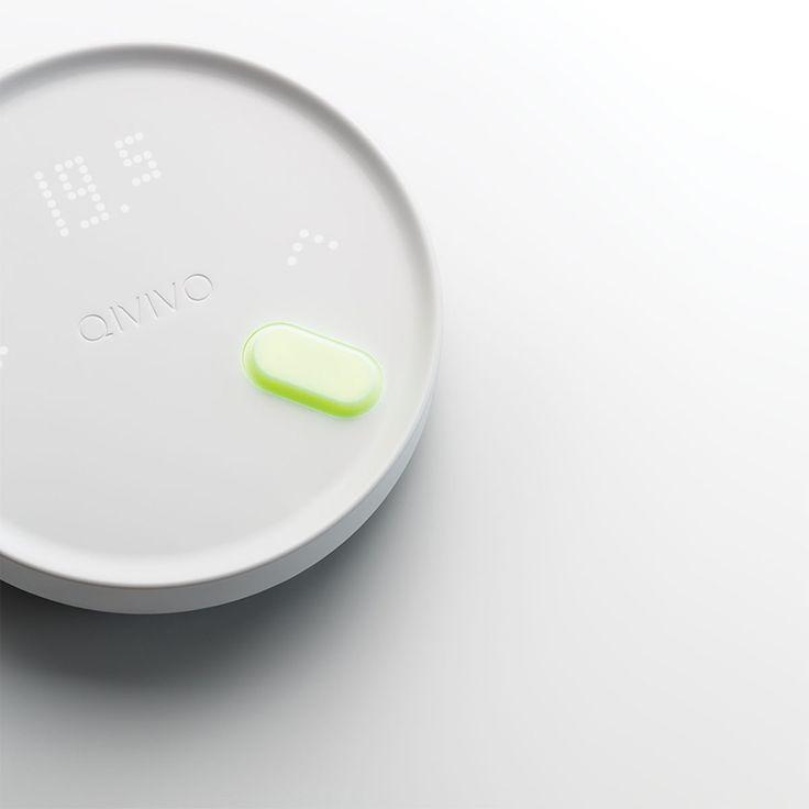 Qivivo launches wireless smart thermostat designed by 5.5 designstudio