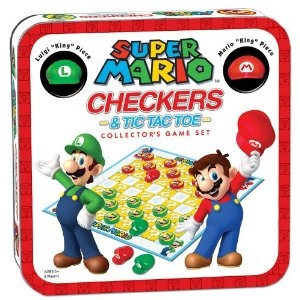 Super Mario Checkers/Tic Tac Toe ComboToes Combos, Mario Checkered, Videos Games, Gift Ideas, Games Sets, Mario Brother, Super Mario, Collector Games, Tic Tac Toes