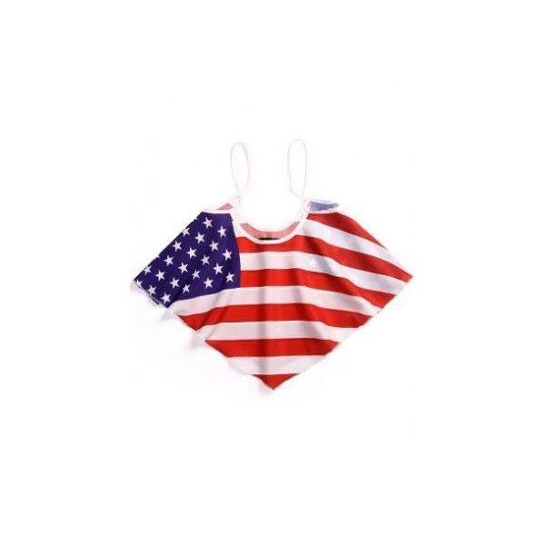 American Flag Crop Top ($19) ❤ liked on Polyvore