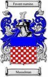 Musselman Coat of Arms / Musselman Family Crest www.4crests.com #coatofarms #familycrest #familycrests #coatsofarms #heraldry #family #genealogy #familyreunion #names #history #medieval #codeofarms #familyshield #shield #crest #clan #badge #tattoo
