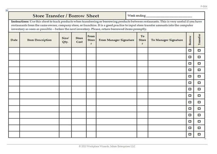 Restaurant Kitchen Prep Sheets 28 best restaurant forms images on pinterest | restaurant kitchen