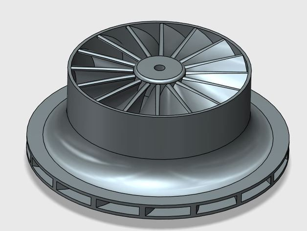 Impeller for centrifugal compressor d- 80mm