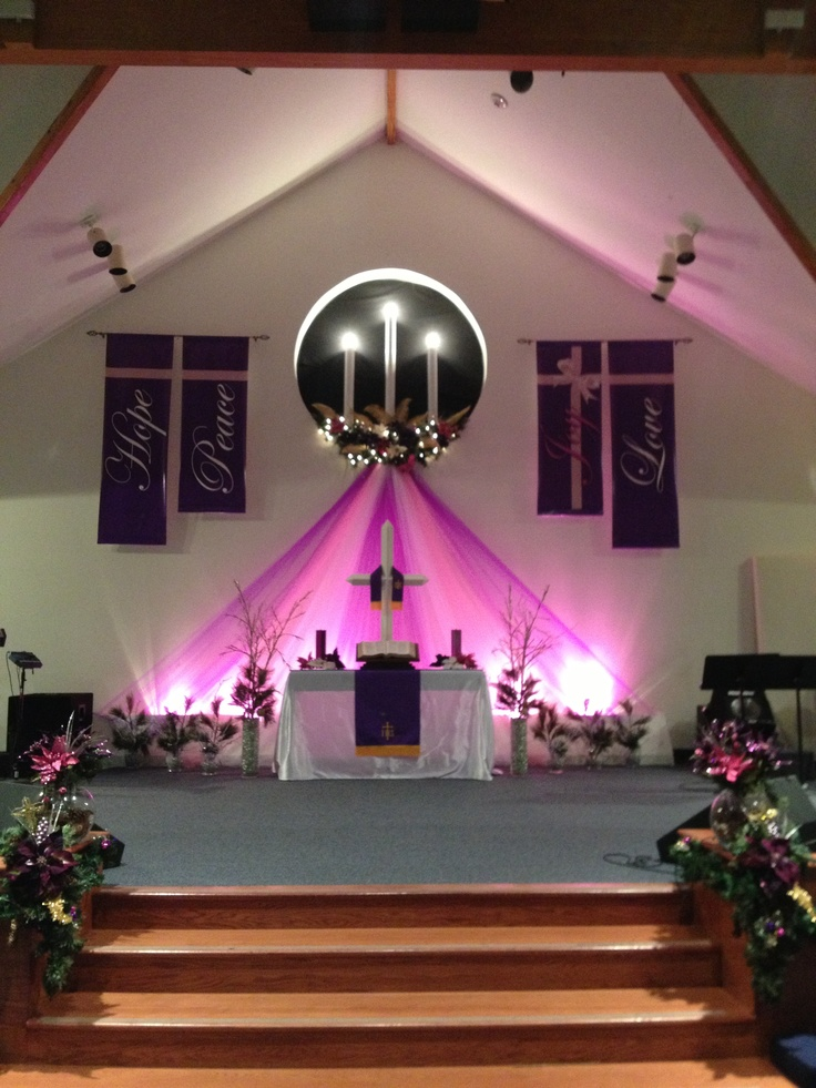 26 best images about advent church decor on pinterest for Backdrop decoration for church