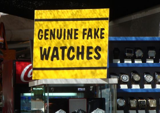So much better than those fake Fake Watches...: Fake Watches, Things Funny, Genuine Fake, Funny English, Funny Signs, Funny Pictures, Pinterest Funny, Signs Fails, Clever Signs