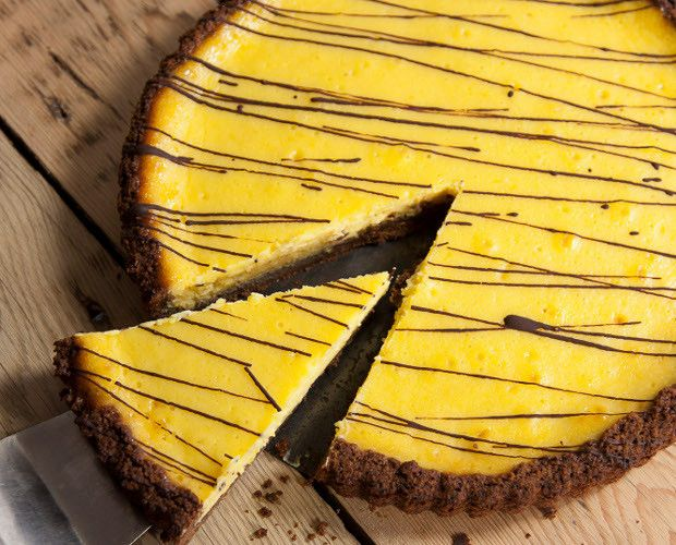 Lemon Curd & Chocolate Tart by Kirsty Hale, Riverford Organics