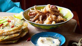 Chilli & five-spice squid