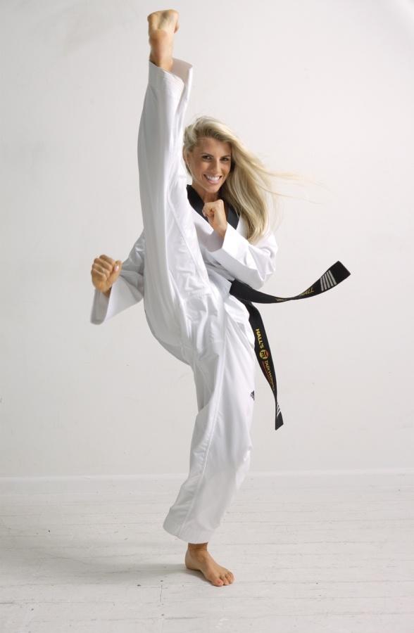 Taekwondo high kick