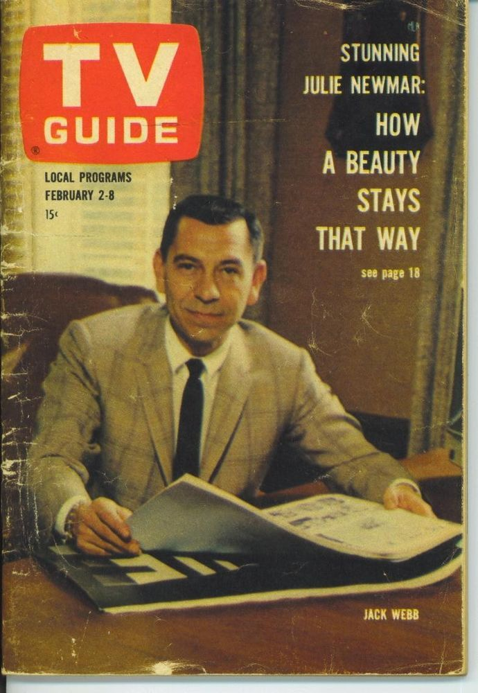 CLEVELAND TV GUIDE 2-2-1963 Julie Newmar~Joan Hackett~Jack Webb~Dean Jones