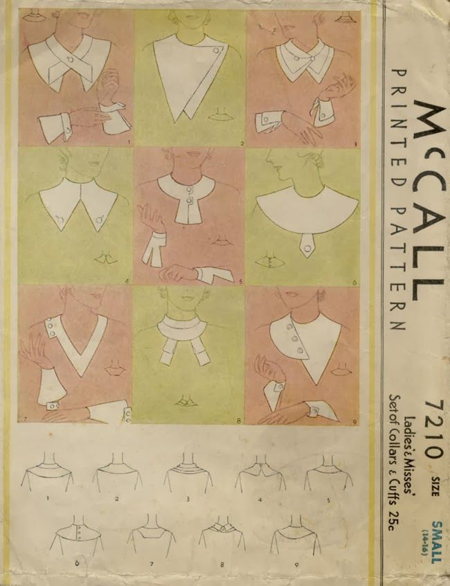 1932 collars & cuffs from Hollywood to the home. Tilly and the Buttons: A Brief History of Paper Patterns and Home Dressmaking in the 1930s