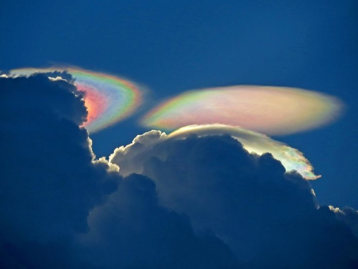 """So-called """"fire rainbows"""" are neither on fire nor are they rainbows, but they sure are stunning.  They are technically known as iridescent clouds, a relatively rare phenomenon caused by clouds of water droplets of nearly uniform size, according to a release by NASA. These clouds diffract, or bend, light in a similar manner, which separates out light into different wavelengths, or colors."""