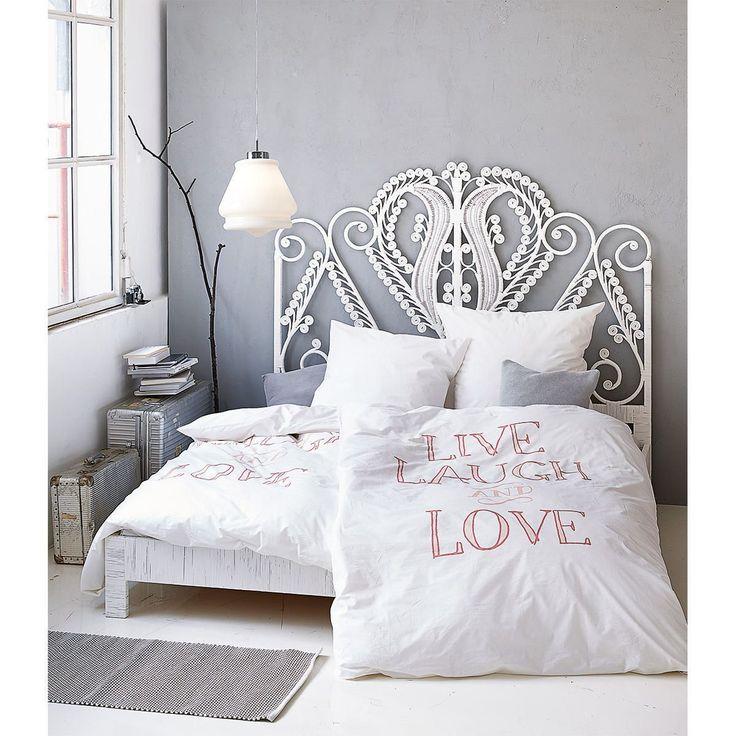 bett verziertes kopfteil rattan mahagoniholz metall betten m bel living wohnen. Black Bedroom Furniture Sets. Home Design Ideas