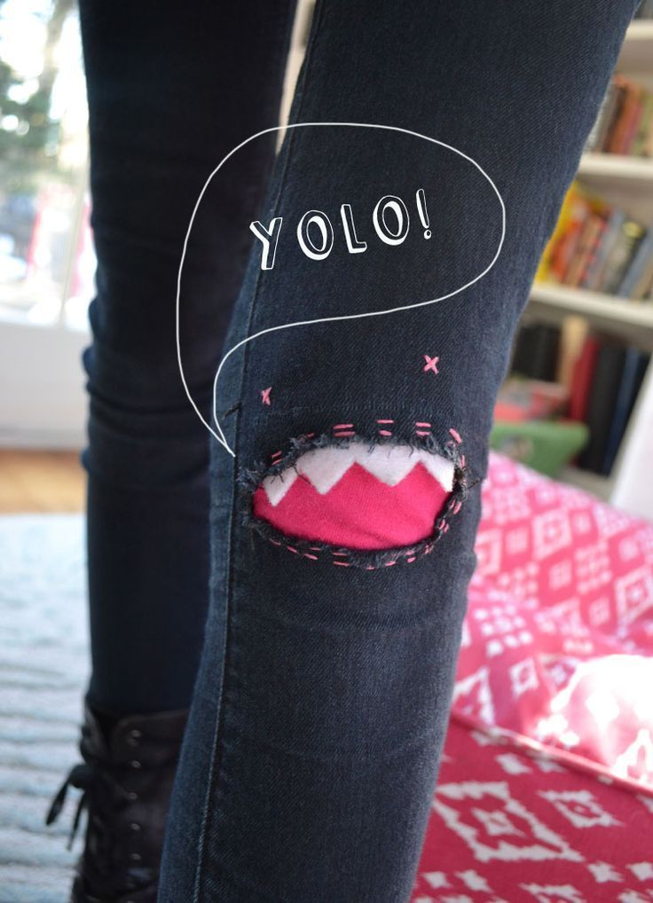 Turn holes in knees into monsters.