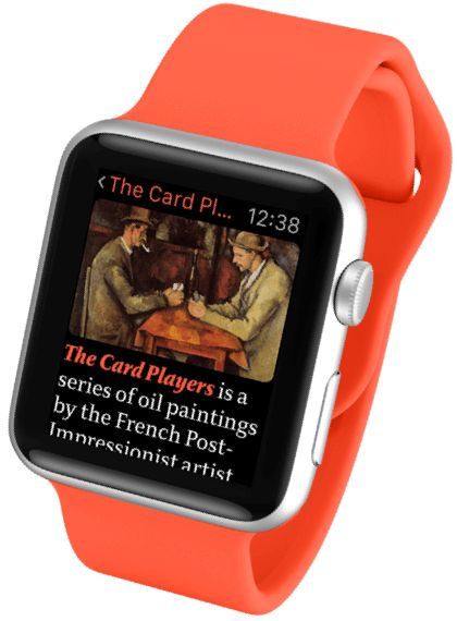 v-for-wiki.com   raureif  berlin  typography  wikipedia app  An article displayed on Apple Watch