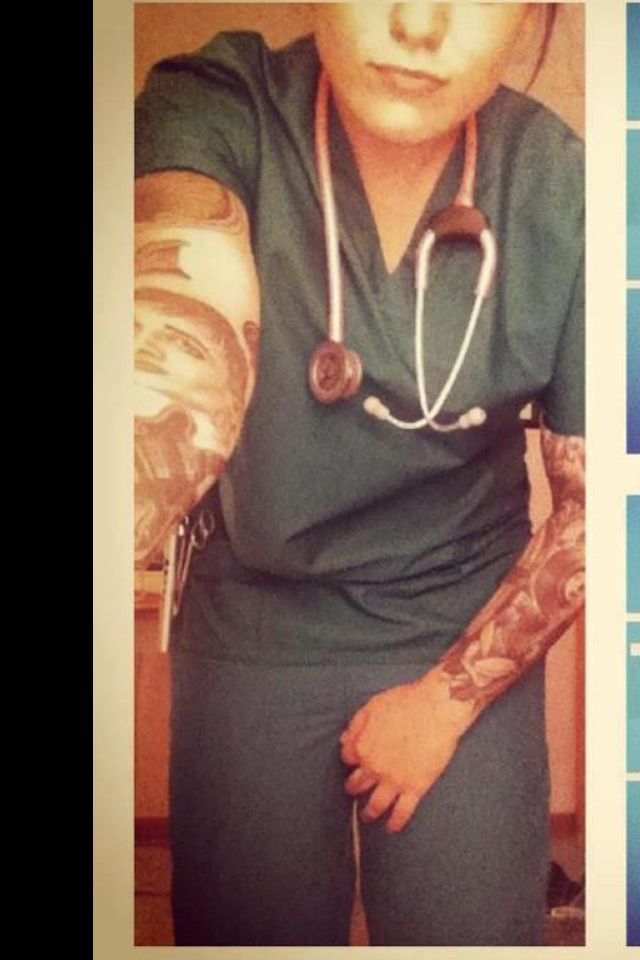 Tattooed nurse sleeves i wish i could have that many for Jobs that don t allow tattoos