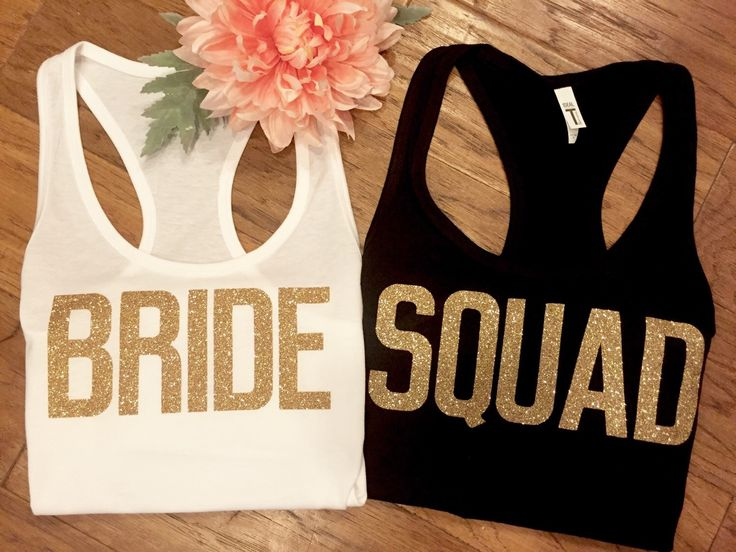 Bride Squad Tank Top, Bachelorette Shirts, Bridesmaid Tank Top, Bridesmaid Tanks, Bridesmaid Shirts, Bride Shirt, Bachelorette Party Shirts by EllaJayDesign on Etsy https://www.etsy.com/listing/456019520/bride-squad-tank-top-bachelorette-shirts