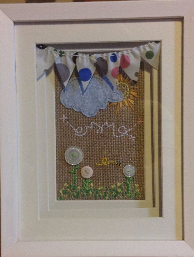 Hessian stitched picture