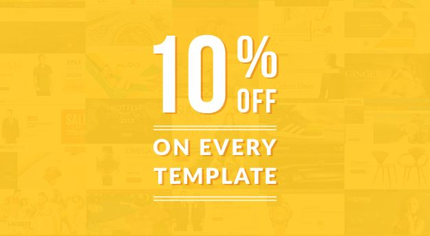 <p>Have constant desire that Template-Monster shares a discount on their themes.</p> <p>Reality: TemplateMonster is here with 10% discount code <strong>nahmvut3f5ki6d6f7hwcbiy55</strong> on every template.</p>