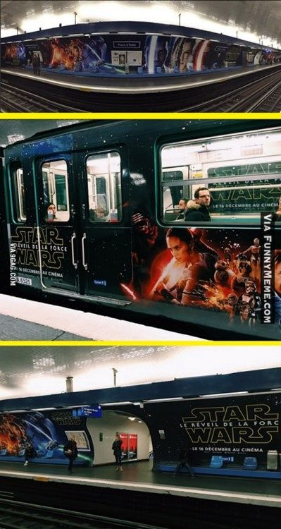 Funny memes French metro owner really likes Star Wars...