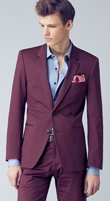 23 best images about Suits - Burgundy on Pinterest | Burgundy suit ...