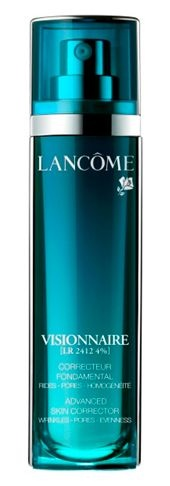 The tick-all-the-boxes, multi-tasking serum, tackles wrinkles, pores and uneven skin tone – a skincare must-have is Lancôme Visionnaire Advanced Skin Corrector Serum.
