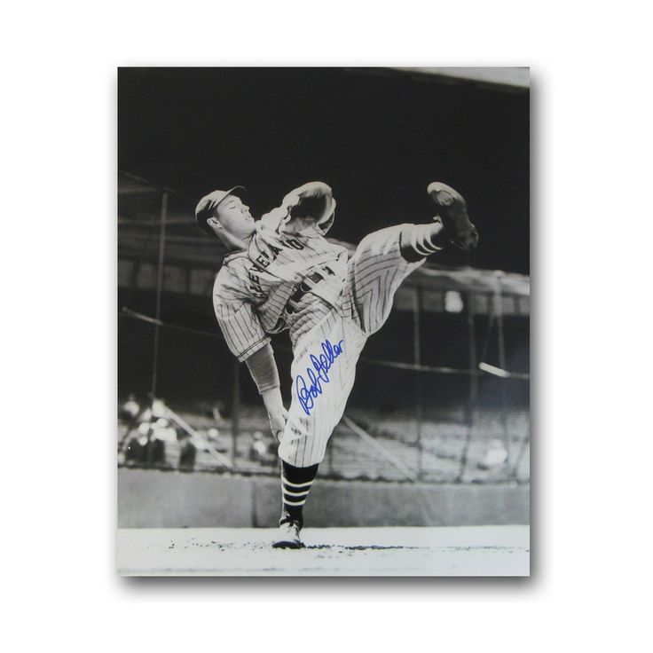 Autographed Bob Feller 8-By-10 Inch Unframed Clevland Indians Photo