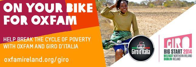 Help break the cycle of poverty with Oxfam & Giro d'Italia. https://www.oxfamireland.org/giro