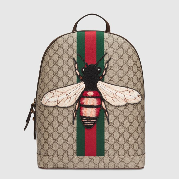 Gucci. Web Animalier backpack with bee - 442892K2LZT8968