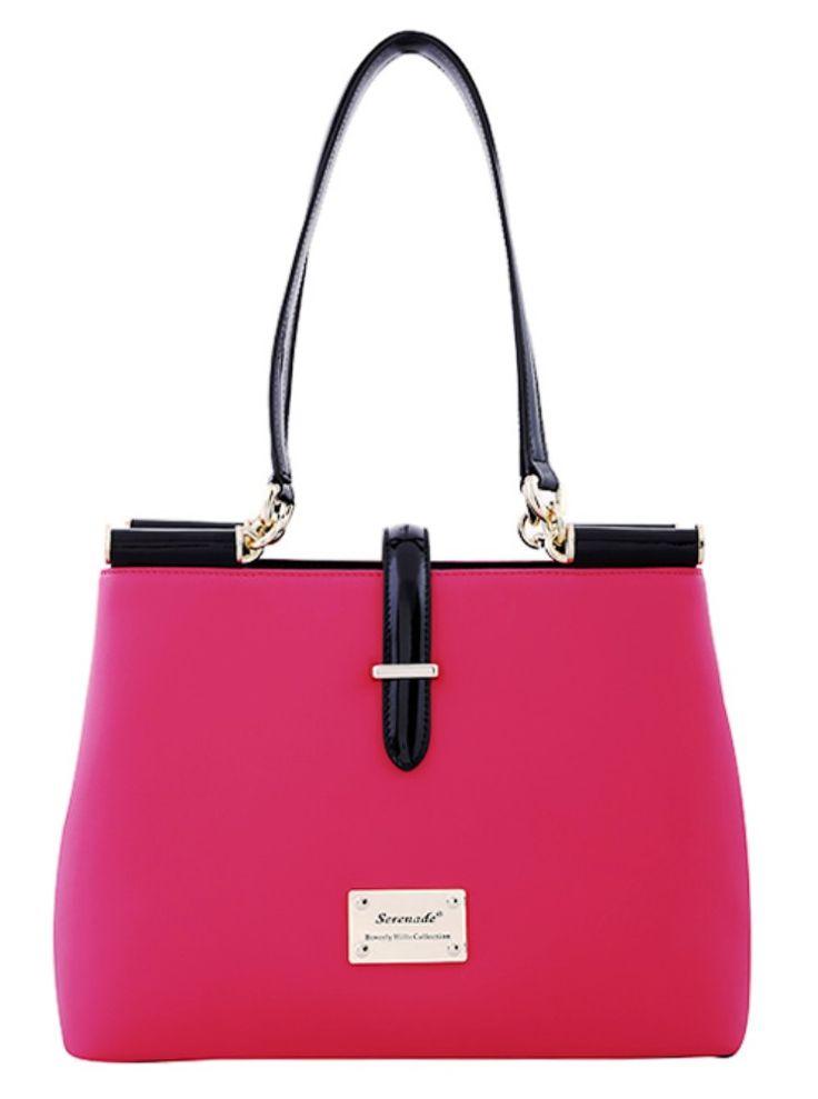 Serenade Lady Pink Matte Leather Handbag. SH62-7574.