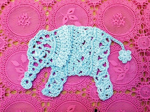 crocheted elephant! instructions in Japanese, but there's a crochet diagram, worth learning how to read those! (myself included)