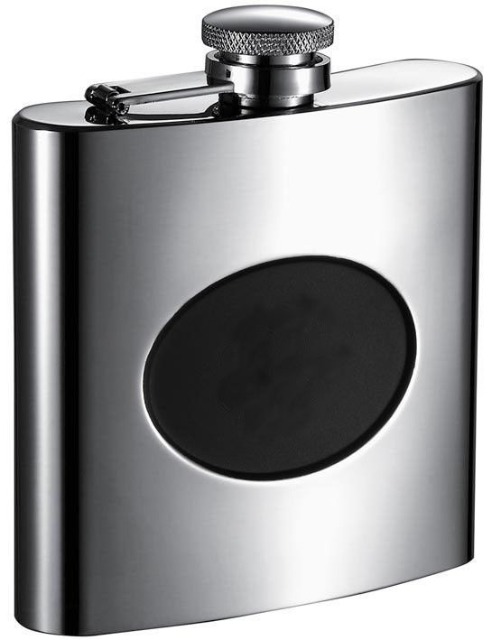 Stainless Steel Recessed Engraving Plate Flask