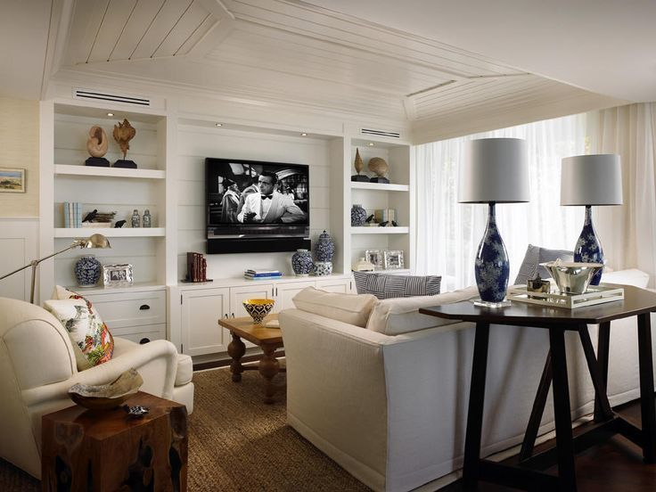 15 Creative Ways to Design or Decorate Around A Flat Screen TV - Flat scree TV in built-ins